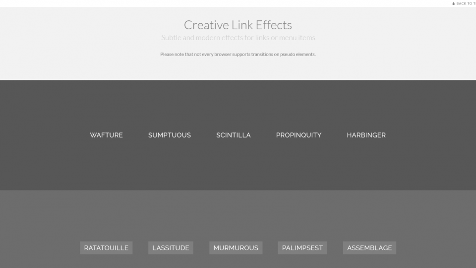 Kreative Link-Effekte